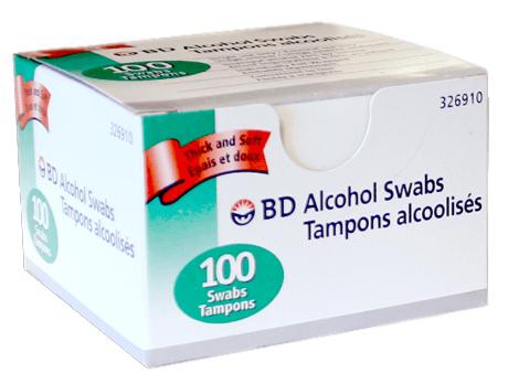 B-D Alcohol Swabs
