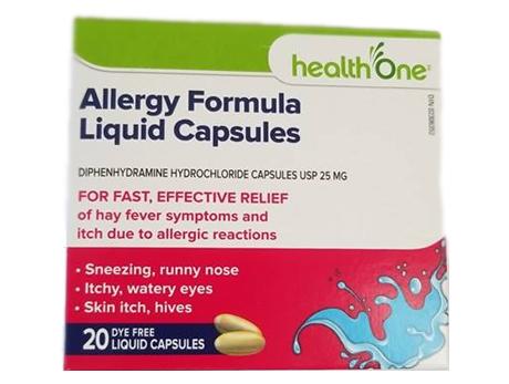 H1 Diphenhydramine 25 mg