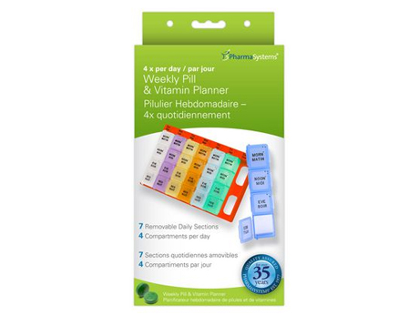 PharmaSystems Weekly Pill Planner