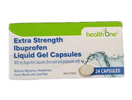 H1 Ibuprofen 400 mg Liquid Extra Strength 24