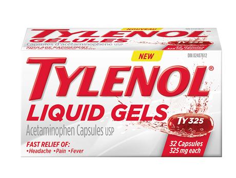 Tylenol 325 mg Liquid Gels 32